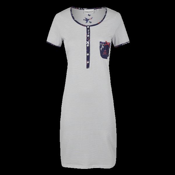 Nachthemd mit Knopfleiste marine | 52