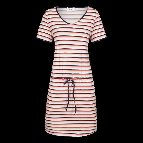 Kleid mit Tunnelzug und Bindeband cayenne | 40