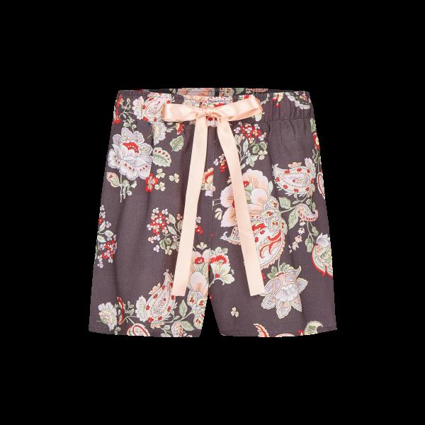 *Shorts mit Blütenprint schlamm   38