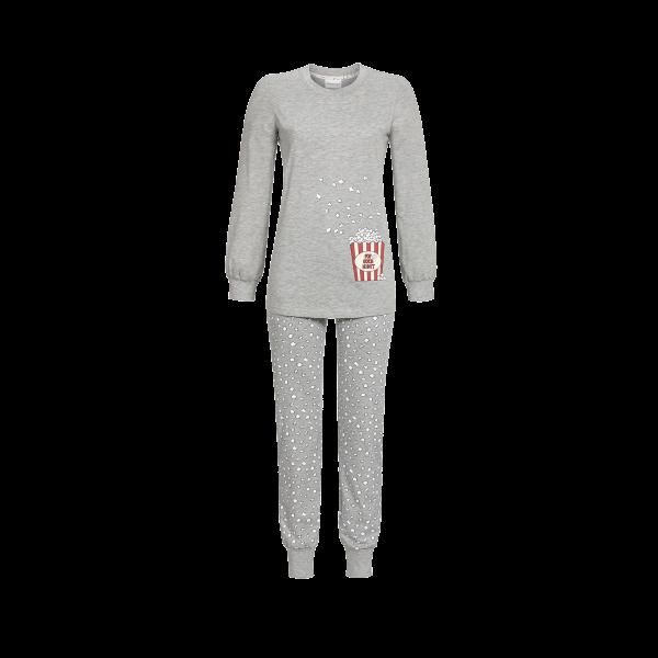 Pyjama mit Strickbündchen grau-melange | 36