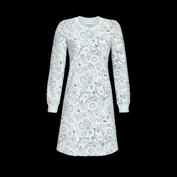 Nachthemd im Paisley-Dessin eisblau | 36