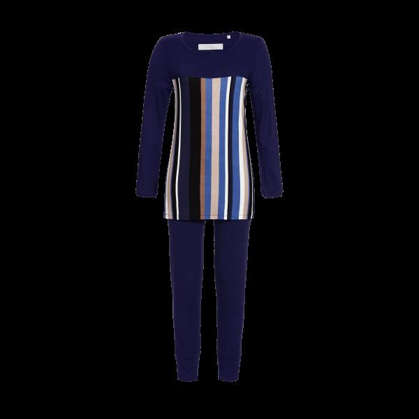 Pyjama mit Streifendessin nachtblau | 36