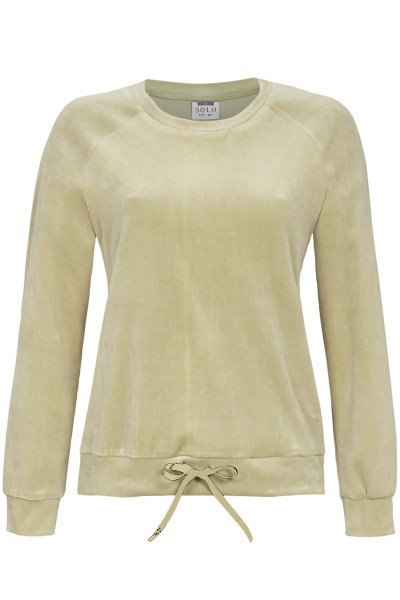 Pullover aus Nickivelours