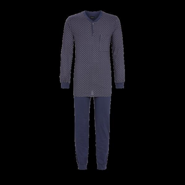 Pyjama mit kurzer Knopfleiste dark blue   48
