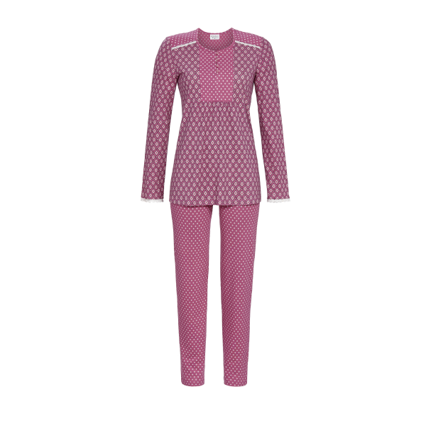 Pyjama mit Knopfleiste rosenholz   44