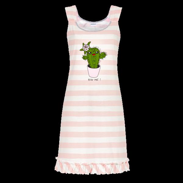 Nachthemd mit Blockringel offwhite-rose | 42