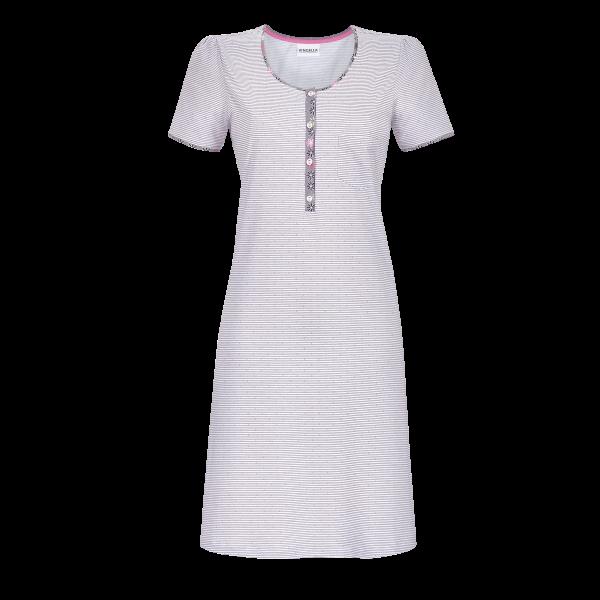 Nachthemd fein geringelt platin | 36