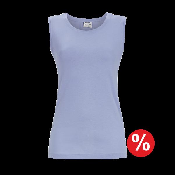 T-Shirt ohne Arm eisblau | 46