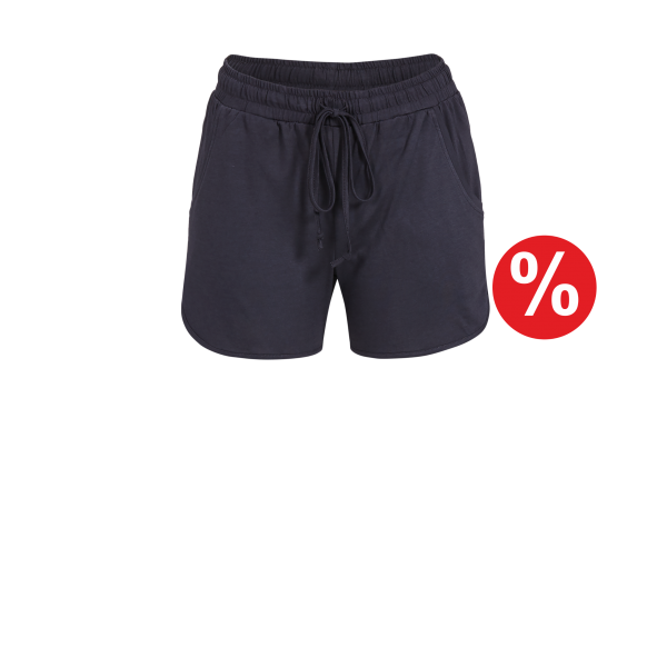 Shorts mit Bindeband anthrazit | 36
