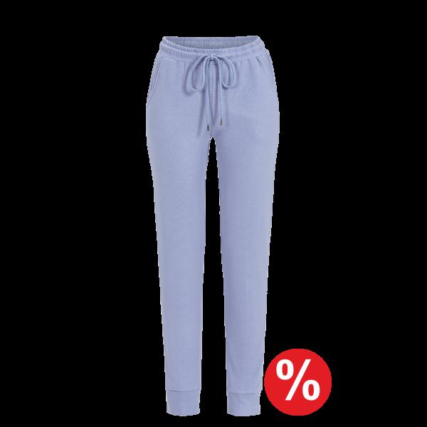 Lange Hose mit Bündchen eisblau | 40