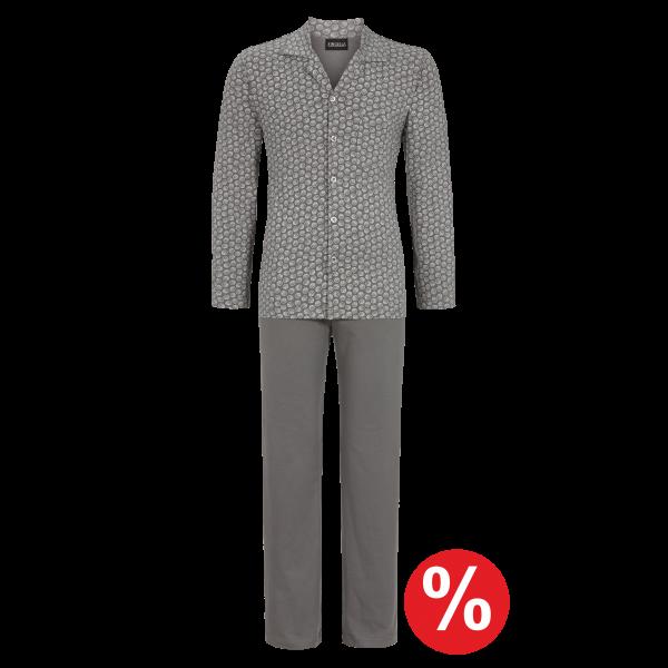 Pyjama durchgeknöpft graphit | 58