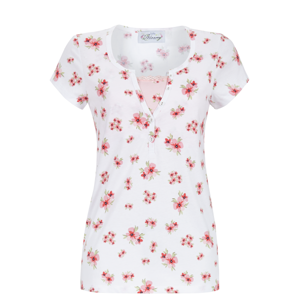 T-Shirt mit Blütendruck