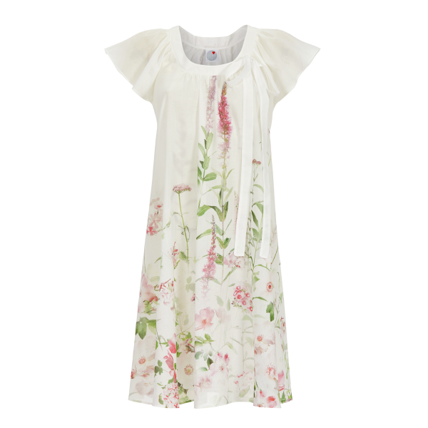 Nachthemd mit Blumendruck off-white | 38