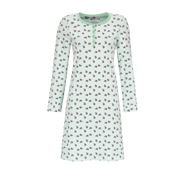 Nachthemd mit Knopfleiste opal   36