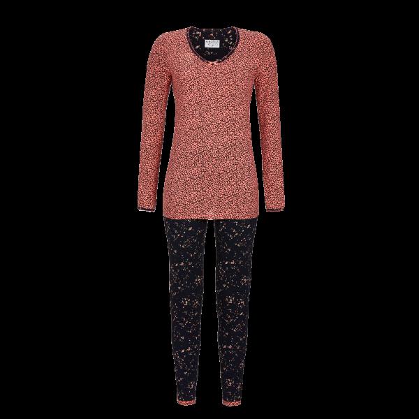 Pyjama im Mustermix salmon rose   36
