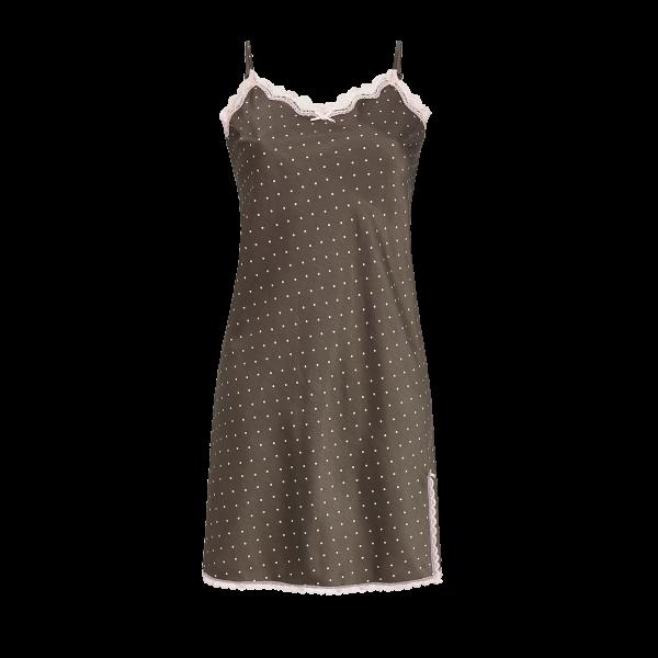 Nachthemd mit Spitzenbesatz charcoal grey | 36