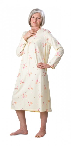 Damen-Pflegehemd 1/1 Arm pastell-gelb | M