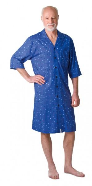 Herren Pflegehemd 3/4 Arm blau | S