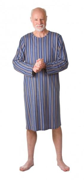 Herren Pflegehemd 1/1 Arm graublau | S