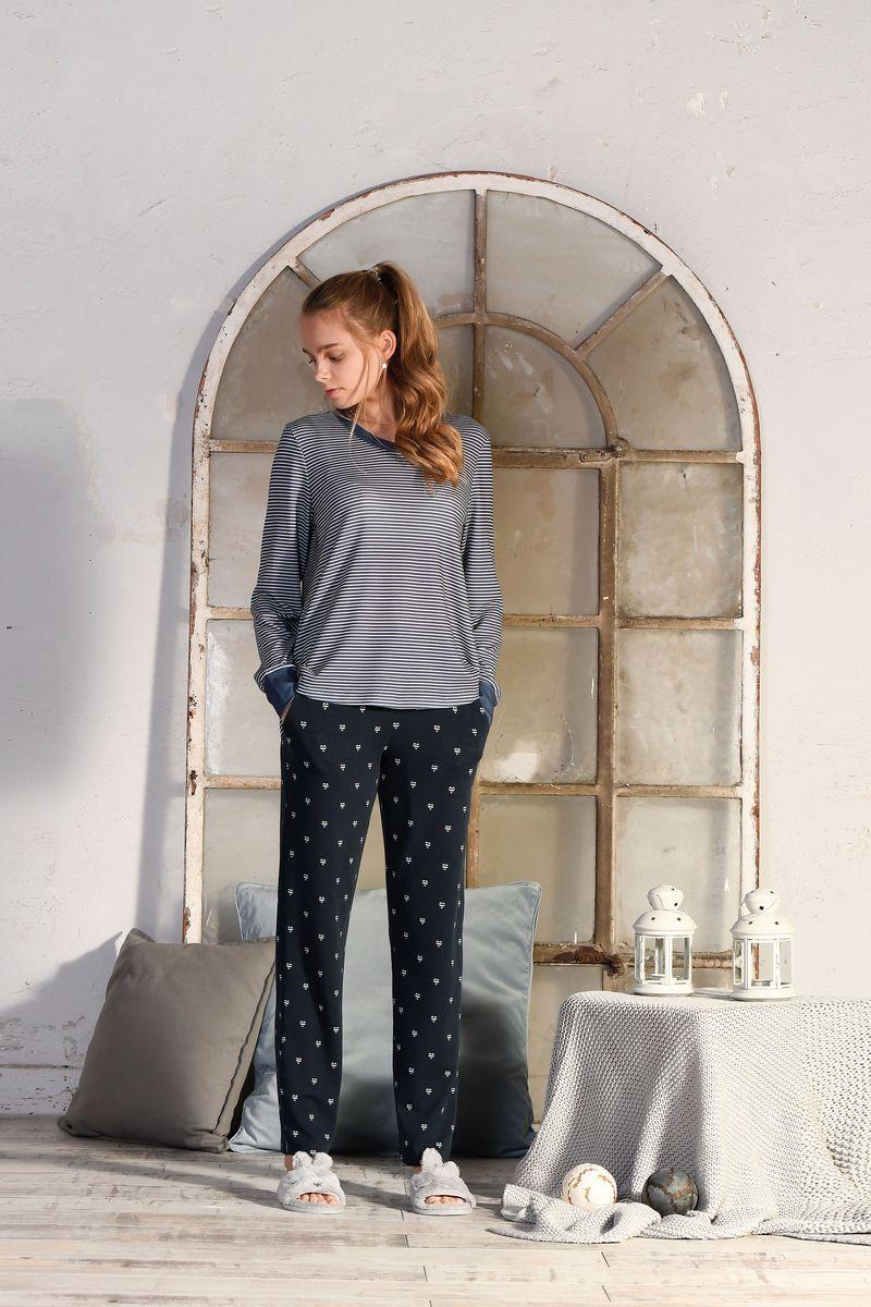 Pullover mit Bündchen indigo | 38
