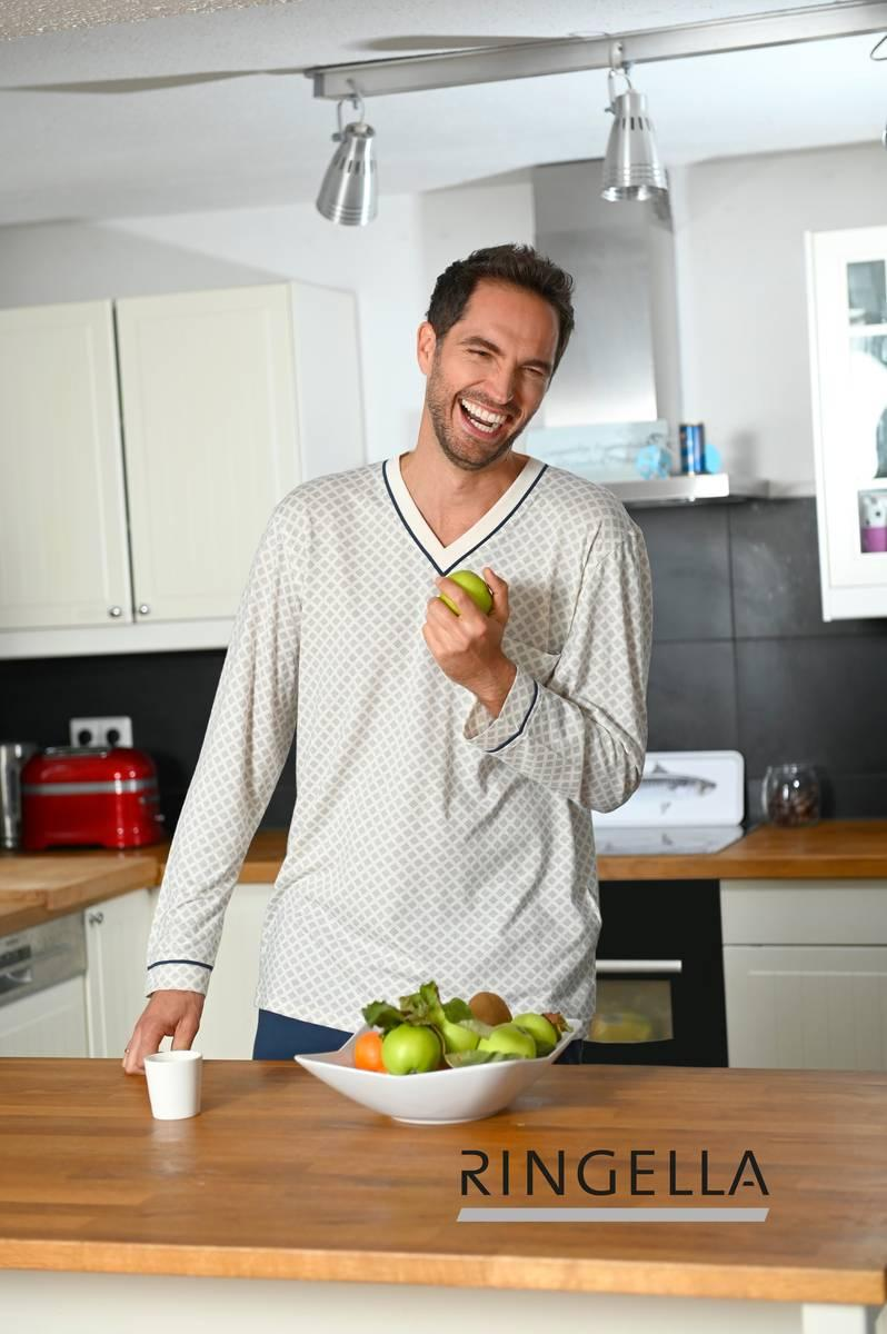 Pyjama mit V-Ausschnitt
