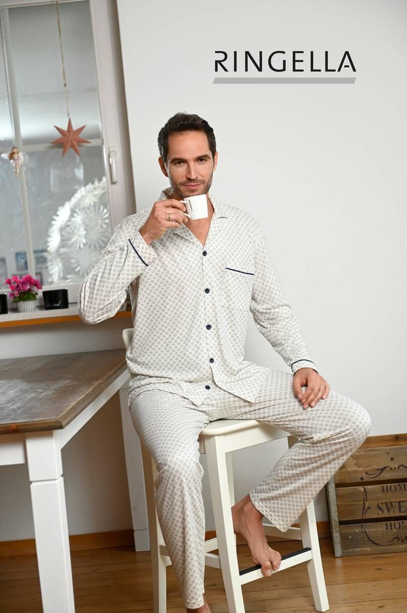 Pyjama mit durchgeknöpftem Oberteil
