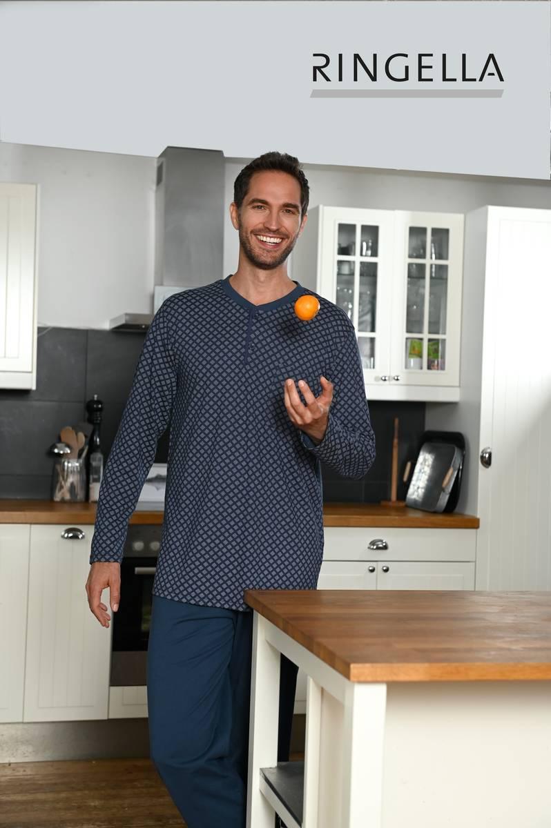 Pyjama mit Knopfleiste dark blue   48