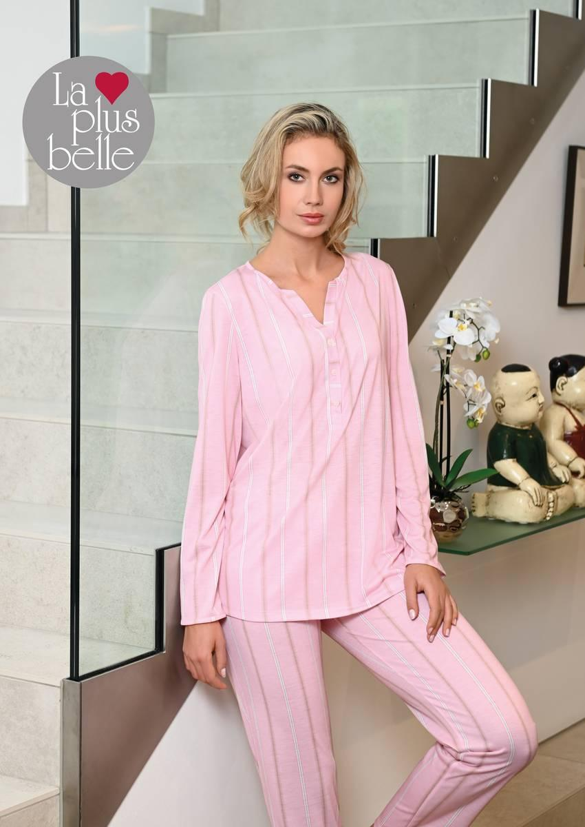 Pyjama mit Knopfleiste dusty rose | 38