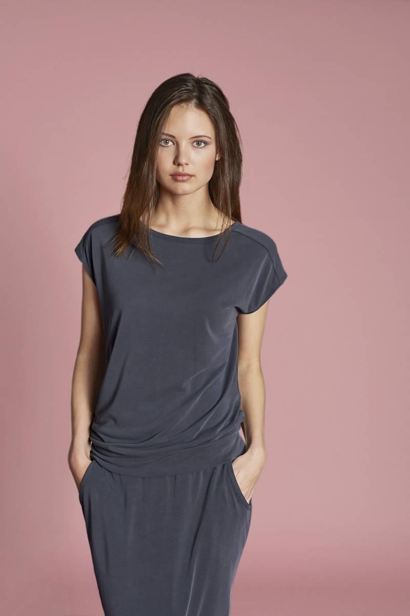 T-Shirt ohne Arm zinn | 40/2