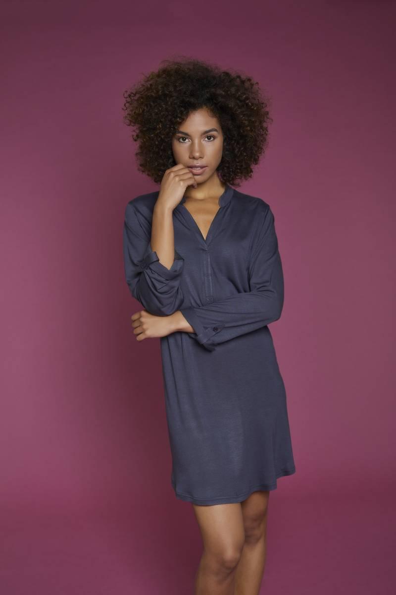 Kleid mit V-Ausschnitt rosa | 48