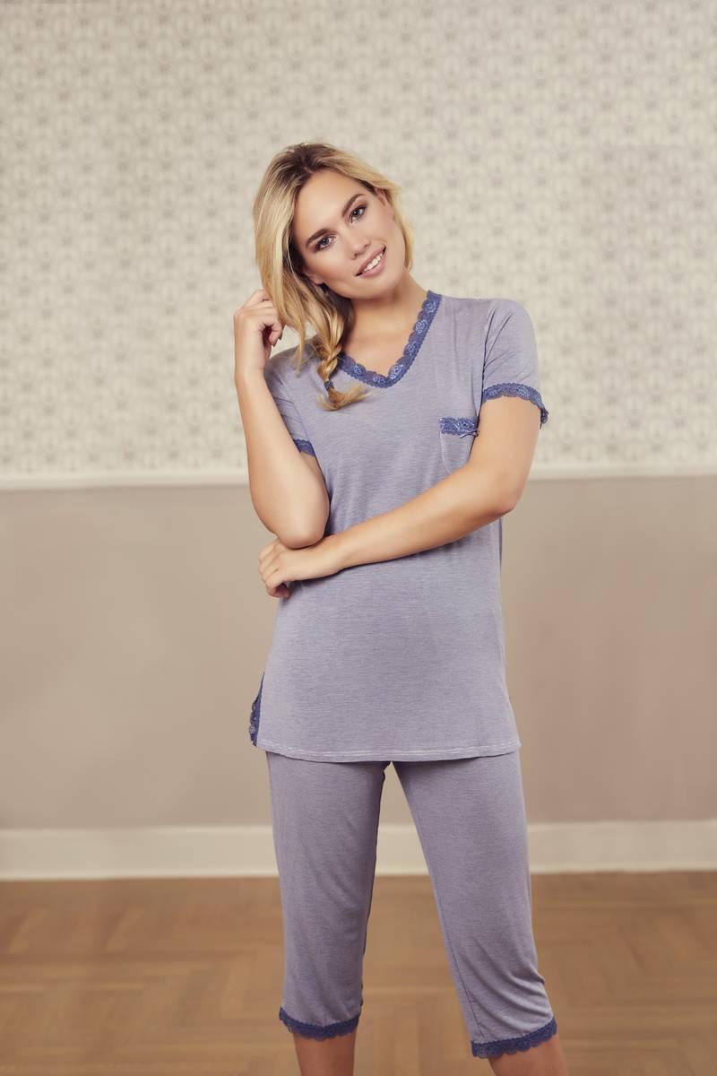 Pyjama mit Caprihose jeans | 36