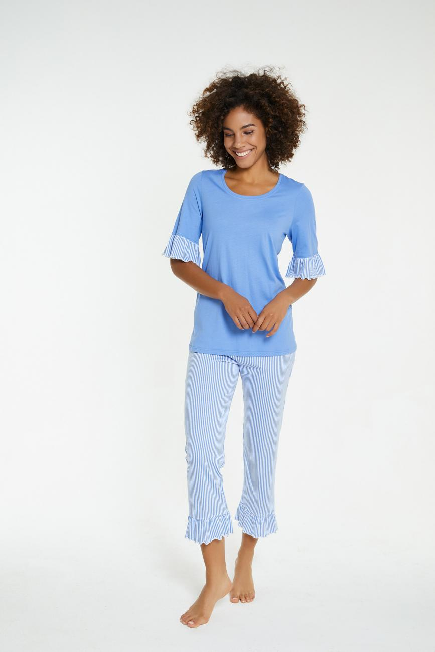 Pyjama mit 7/8 Hose blue | 36