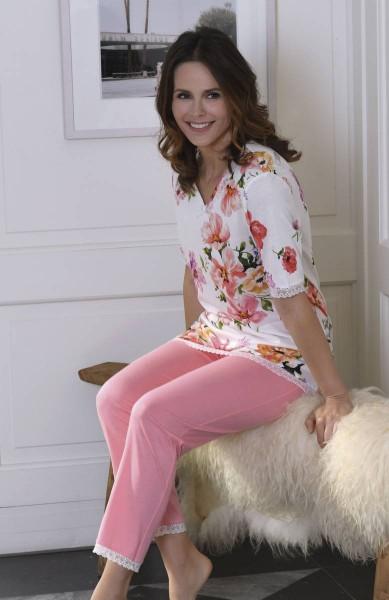 Pyjama mit 7/8 Hose off-white | 44