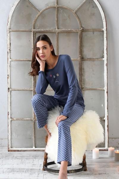 Pyjama mit Motivdruck night shadow | 36