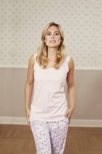 Pyjama mit Caprihose nelke | 36