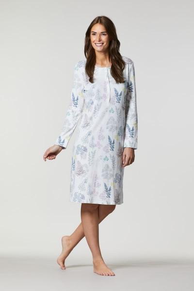 Nachthemd mit Knopfleiste off-white | 36