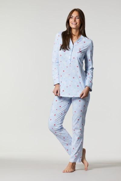 Pyjama mit Krempelarm ciel | 36