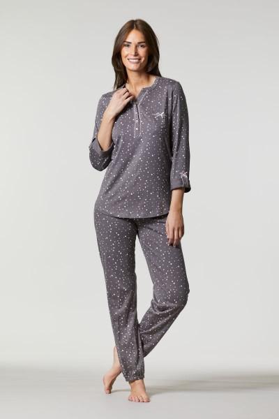 Pyjama mit Krempelarm charcoal grey | 36